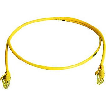 Telegärtner RJ45 Network cable, patch cable CAT 5e U/UTP 5.00 m Yellow Flame-retardant, Halogen-free
