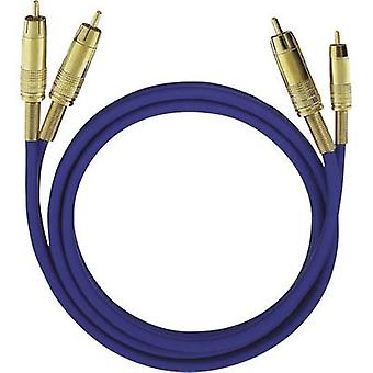 RCA Audio/phono Cable [2x RCA plug (phono) - 2x RCA plug (phono)] 1.00 m Blue gold plated connectors Oehlbach NF 1 Master