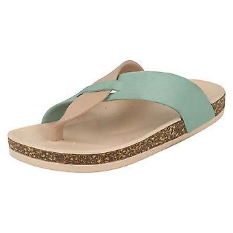 Miejscu panie na Open Toe Cork efekt Flatform Sandal