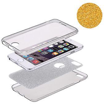 Crystal Case cover per Apple iPhone 7 caso corpo pieno Orange glitter