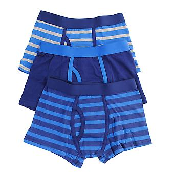 Boys Tom Franks Kids Striped Cotton Rich Boxer Shorts Trunk underwear 3 Pack