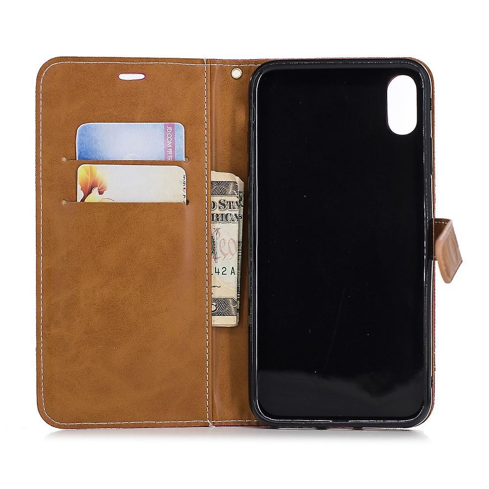 Apple iPhone fall täcka mobiltelefon case skyddande väska XS Max kort täcker fallet rosa