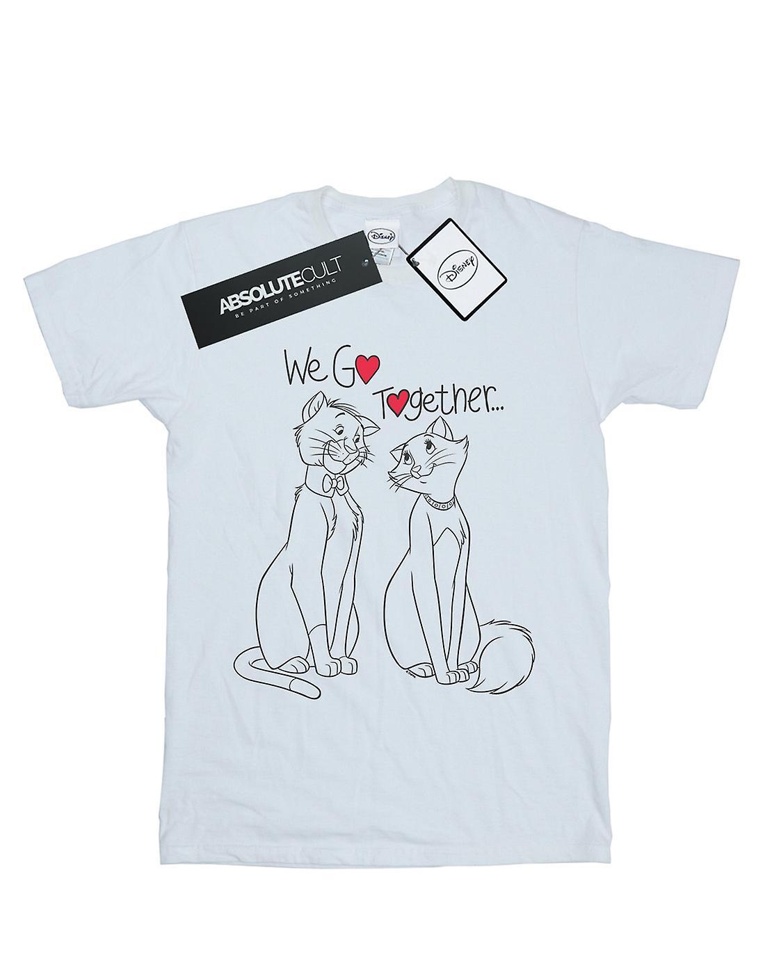Disney Women's Aristocats We Go Together Boyfriend Fit T-Shirt