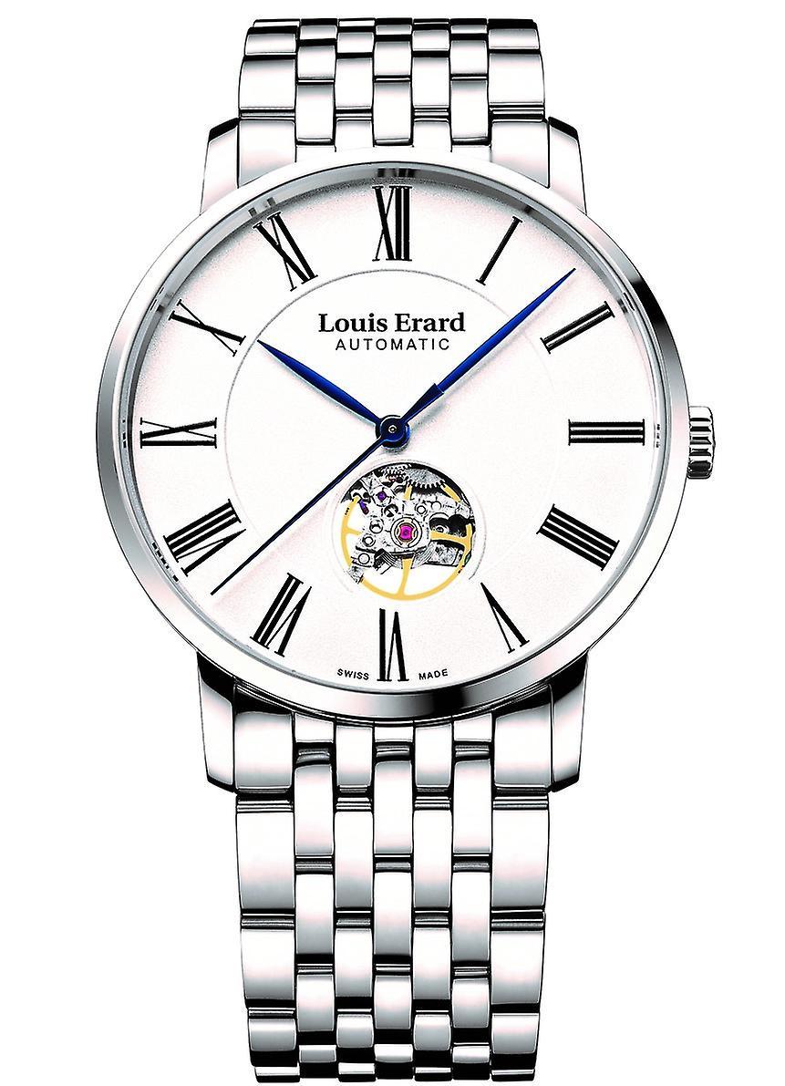 Louis Erard Excellence Open Balance Stainless Steel Men's Watch 62233AA10.BMA35 40mm