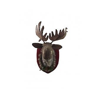 Gisela Graham Tweed Moose Head