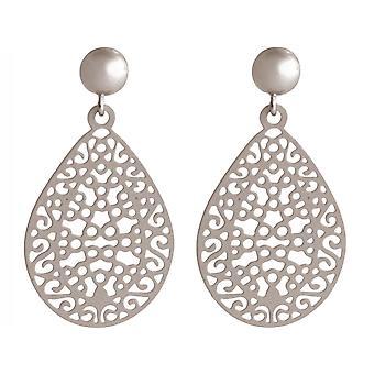 Boucles d'oreilles Gemshine dames yoga mandala cercle argent, plaqué or ou rose 3,5 cm