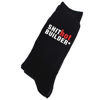 Shit Hot Builder Mens Black Calf Socks