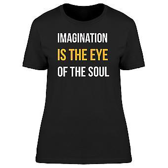 La imaginación es el ojo del alma Tee hombre-imagen de Shutterstock