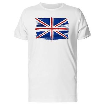 Großbritannien Flagge Paintbrush T-Shirt Herren-Bild von Shutterstock