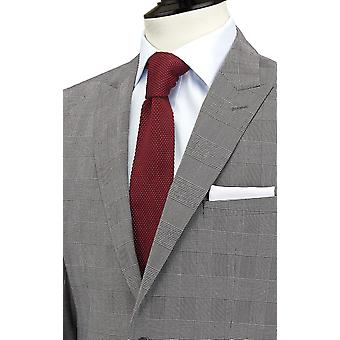 Dobell Mens Black and White Suit Jacket Regular Fit Peak Lapel Prince of Wales Check