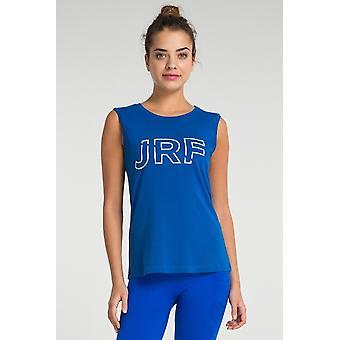 Jerf-womens -cusco- Blue- Sleeveless Tee Shirt