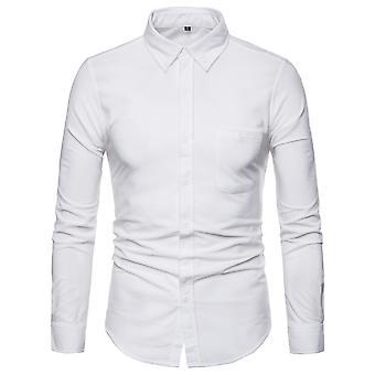 Allthemen heren shirt met lange mouwen corduroy katoen casual shirt