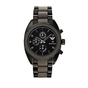 Emporio Armani Ar5953 Mens Sports relógio cronógrafo preto Luxe