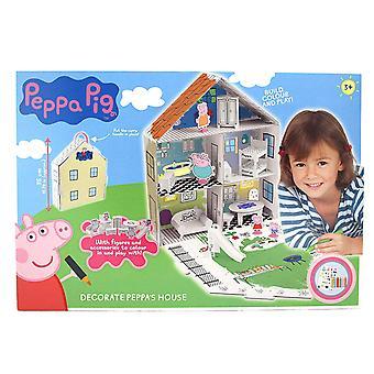 Peppa gris 360129 dekorere Peppa hus 3D farve sæt
