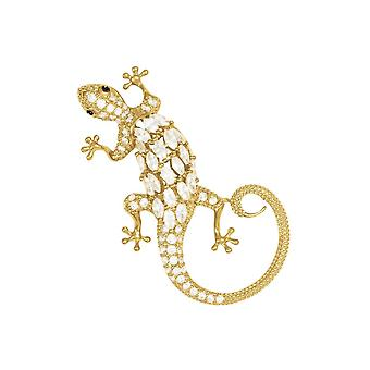 Eeuwige collectie Loretta de Lizard Crystal Gold Tone broche