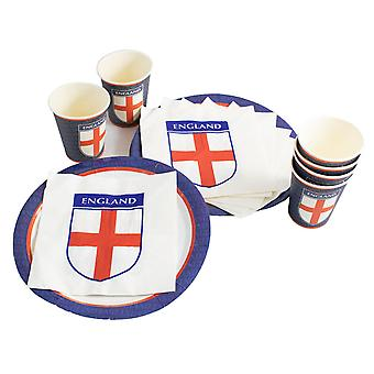 TRIXES 18PC England Party Pack rød hvit og blå