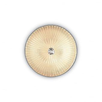 Ideal Lux Shell 3 Bulb Surface Spotlight Ambra