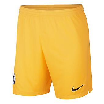 2019-2020 Chelsea Home Nike Goalkeeper Shorts (Gold) - Kids