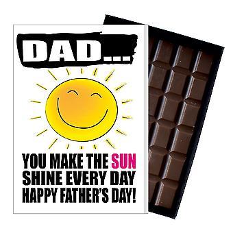 Śmieszne ojca dzień prezent głupia czekolada obecny rude karty dla tata DADIYF115
