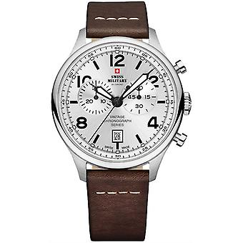 Swiss military chrono Quartz Analog Man Watch with Cowskin Bracelet SM30192.05