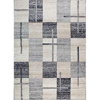 Design matto korkealaatuista kerma/tummanharmaa