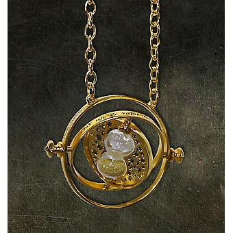 Harry Potter replica Hermione's time reversal replica, made of plastic, with hourglass.