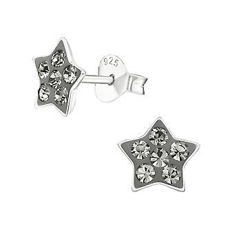 Estrella - 925 Plata esterlina plata cristalear tachuelas - W12907X