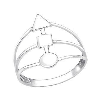 Geometrische - 925 Sterling Silber Silber schwer - W38981X