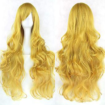 Perruque synthétique/long bouclé/or blond #144