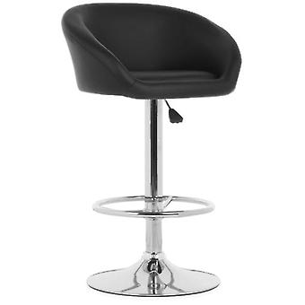 Wellindal Black Dossier Adjustable Stool (Furniture , Stools)