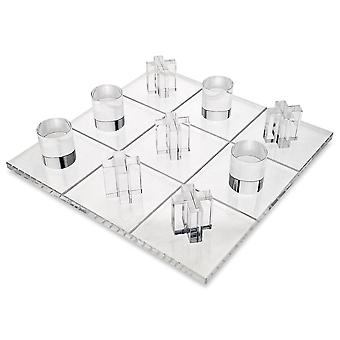 OnDisplay 3D Luxe Akryyli Tic Tac Toe Set - Luxury Executive Desktop Board -peli