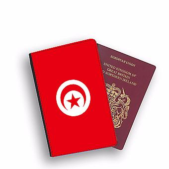 TUNISIA Flag Passport Holder Style Case Cover Protective Wallet Flags design