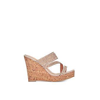Callisto Womens sofiya Leather Open Toe Casual Platform Sandals