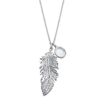 Elli Necklace with Women's Pendant in Silver 925 - Moonstone