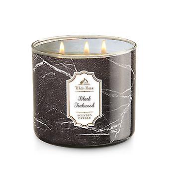 Bath & Body Works Black Teakwood 3 Wick Scanted Candle 14.5 oz / 411 g (Pack of 2)