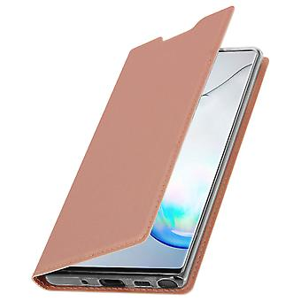 Slim flip wallet case, Business series for Samsung Galaxy Note 10 Plus Rose gold