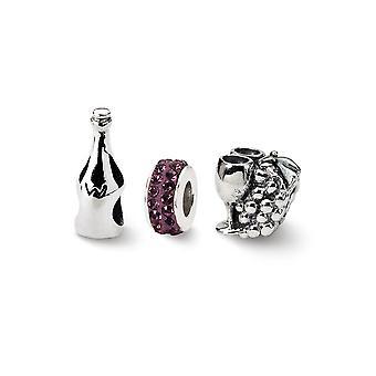 925 Sterling Silber Geschenk Boxed Finish Reflexionen Wein Land Boxed Perle Anhänger Anhänger Halskette Set Schmuck Geschenke für W