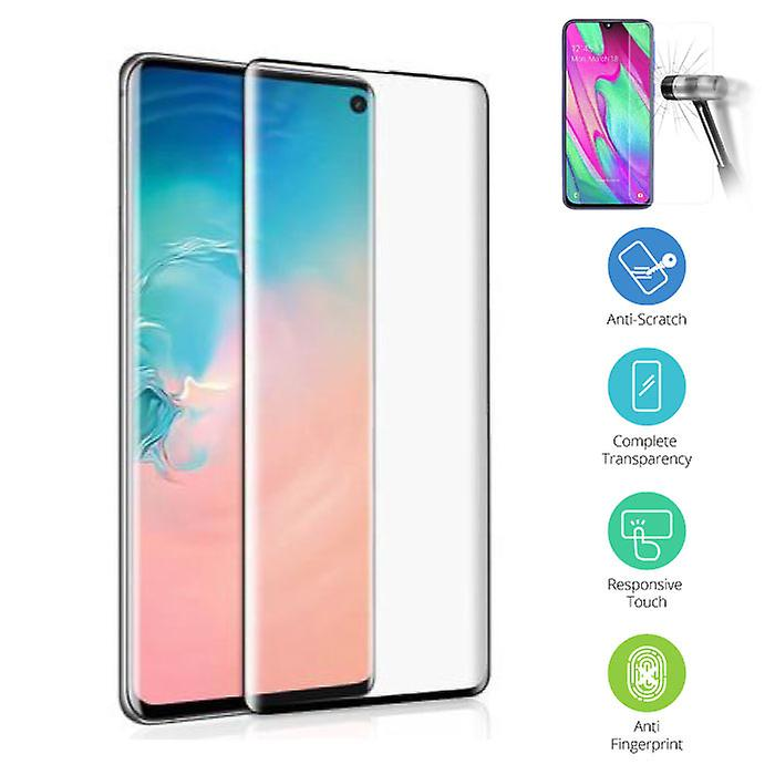 Stuff Certified® Samsung Galaxy S10 Transparent TPU case + Screen Protector Tempered Glass
