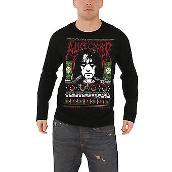 Alice Cooper Mens Sweatshirt Black Christmas Holidays 2016 logo Official
