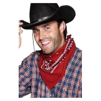 Rote Cowboy Bandana Fancy Kleid Zubehör