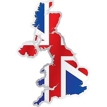 Klistermærke klistermærke mærkat flag kort engelsk UK Union Jack UK motorcykel bil