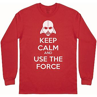 Keep Calm And Use The Force - Mens Long Sleeve T-Shirt