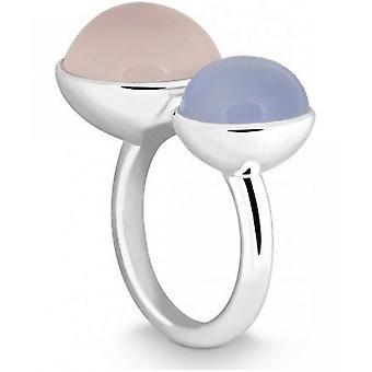 QUINN - Ring - Women - Silver 925 - Gemstone - Pink Quartz - Width 56 - 21058630