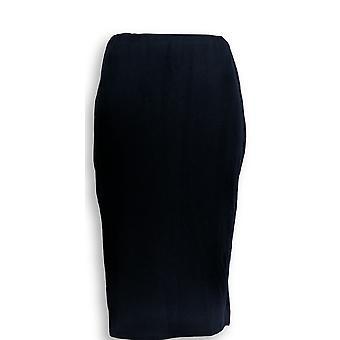 Dennis Basso Skirt Ponte Knit Pencil Skirt Pull On Navy Blue A288738