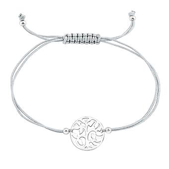 Tree Of Life - 925 Sterling Silver + Nylon Cord Corded Bracelets - W39005X