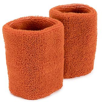 Wrist Sweatbands 2-pack, Orange