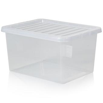 Wham opslag pakket van 5-31 liter kristal plastic Opbergdozen met deksels
