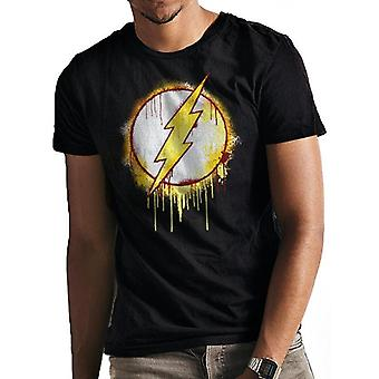 The Flash Unisex Adults Splatter Logo T-Shirt