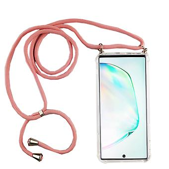 Phone Chain for Samsung Galaxy Note 10 - Smartphone Necklace Case with Band - Cord with Case to Hang In Pink