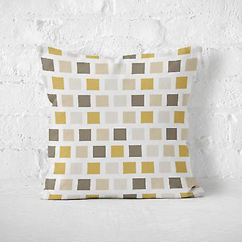 Meesoz Coussin - Squares Gold&Brown